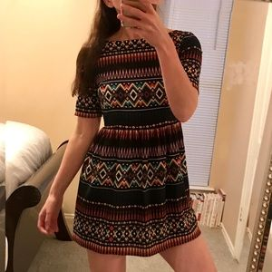 Anthropologie Maeve Abstract Dress